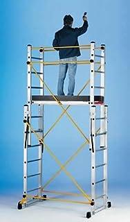 Andamio plegable aluminio profesional IBERANDAMIOS de dos cuerpos con altura de trabajo 3,85 mts: Amazon.es: Bricolaje y herramientas