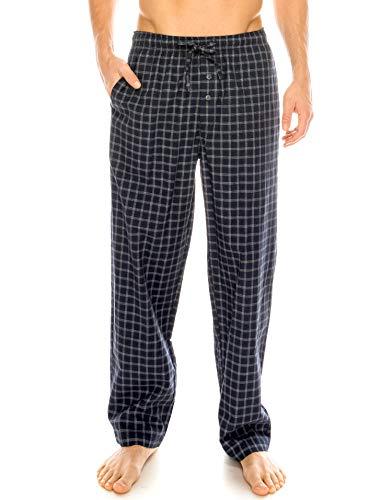 Cotton Pajama Poplin Pants - TINFL Men's Lounge Cotton Pajama Pants PM-SB012-Navy XL