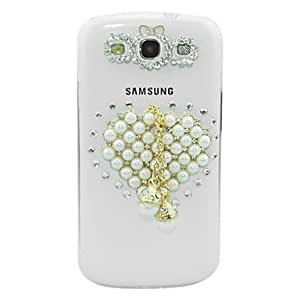 Buy Pearl Loving Heart Pattern Transparent Body Case for Samsung Galaxy S3 I9300