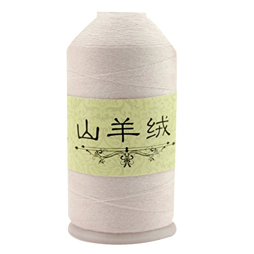 50G Cole Cashmere Crocheting Worsted Wool Yarn Thread Hand-woven Knitting Baby Scarf Yarn (Beige)