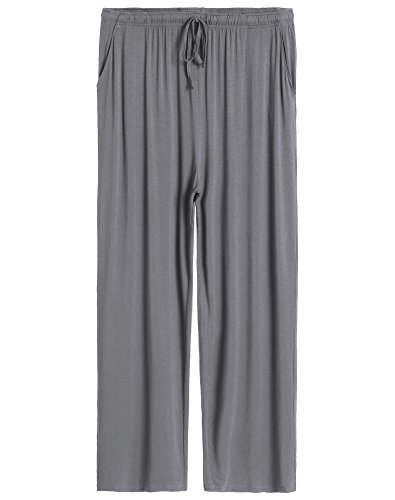 Pajama Trousers (Latuza Men's Lounge Pants XXL Dark Gray)