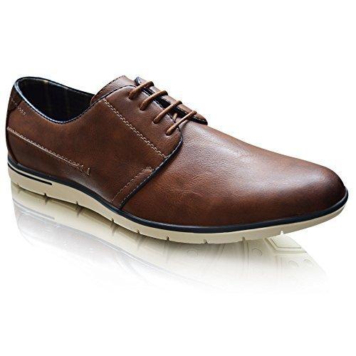 Xelay - Zapatillas hombre Marrón Oscuro
