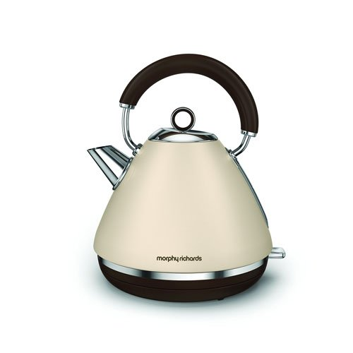 Morphy Richards 102101 Accents Pyramid Traditional Kettle, Stainless Steel, 2200 W, 1.5 Litre, Sand