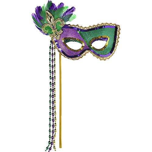 Mardi Gras Party Stick Mask, 16.75