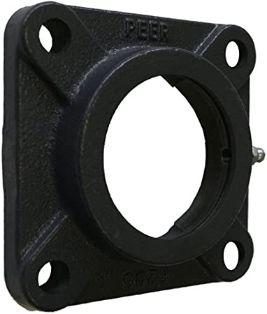 Cast Iron Solid Housing Flange-Mount Housing Four-Bolt Square PEER Bearing F-207-H