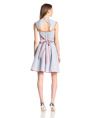Jessica Simpson Women's Cross Front Full Skirt Dress