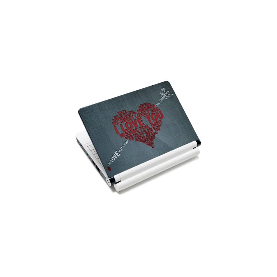 Love Heart Honey Words Laptop Notebook Protective Skin Cover Sticker Decal Protector   12.1 13.3 14 15.6 16 17 Inch For Dell Alienware Mini Netbooks Adamo