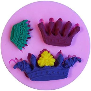 WYD corona de silicona 3d Fondant molde decoración para tarta para hacer jabón molde,