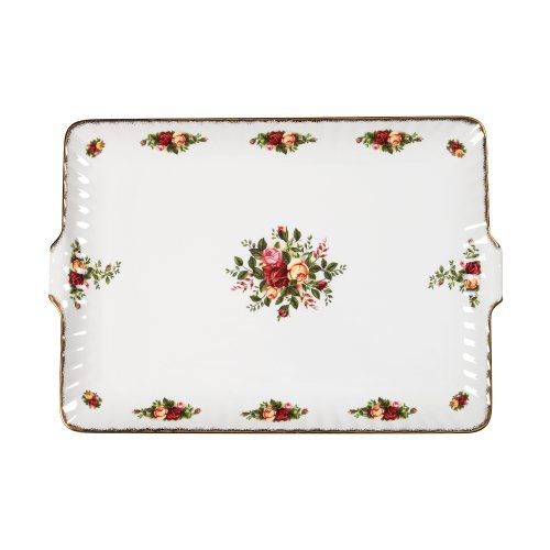 Royal Albert Old Country Roses 12.5-inch Fluted Serving Tray - 28832056