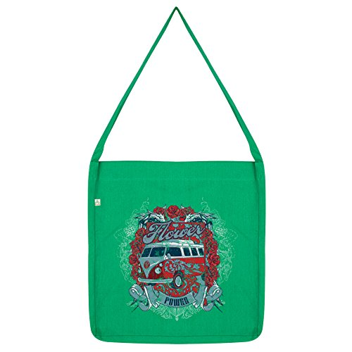 Twisted Flower Van Camper Power Envy Envy Green Bag Tote Twisted 4tUqYwXd