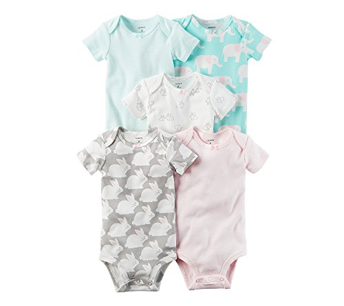 842b28df8 Galleon - Carter's Baby Girls' 5-Pack Bodysuits Newborn