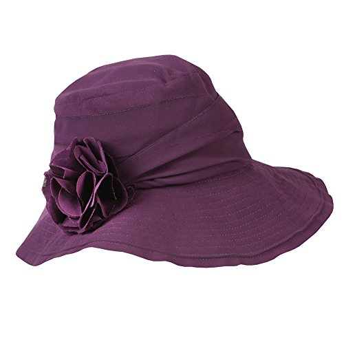 Women's Summer Hat with Wired Brim - Purple