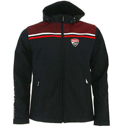 DUCATI Corse Moto GP Racing Soft Shell Jacket Black Offic...