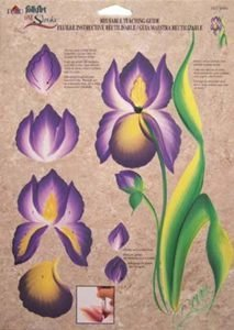 Plaid Folk Art One Stroke Reusable Painting Teaching Guide: (IRISES)