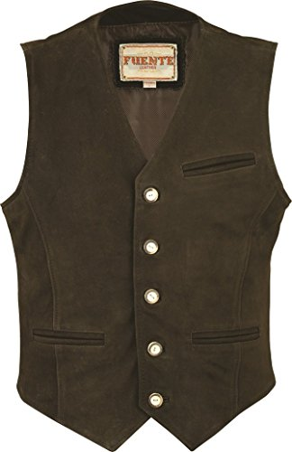 Negro Fuente Leather para Hombre Abrigo Wears CxzwWqxv4
