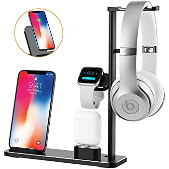 Amazon.com: Wireless Charger Headphone Stand 2 in 1