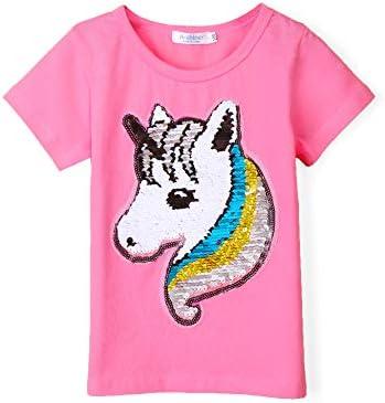Rose Summer Basic Little Girls Short Sleeve Tee Short T Shirts