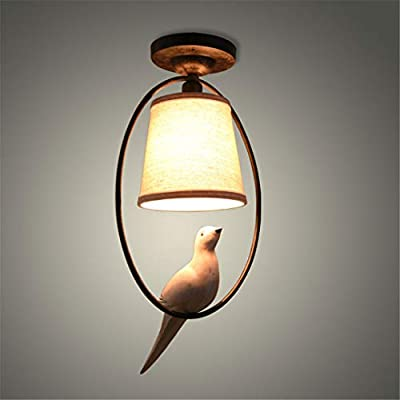 Amazon.com: Mediterranean Single Bird Ceiling Lamp Retro ...