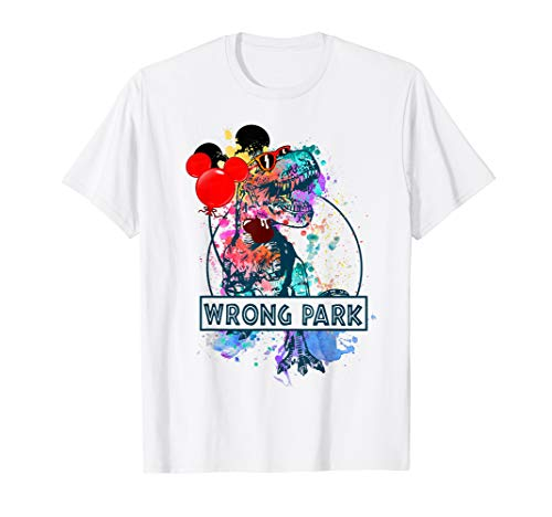 (Funny T-rex Wrong Park T-shirt T-rex With Balloons Get Lost)
