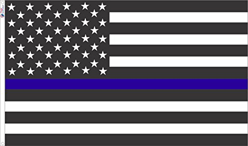 *USA Style* Thin Blue Line Flag 3ft x 5ft Nylon Material Fro