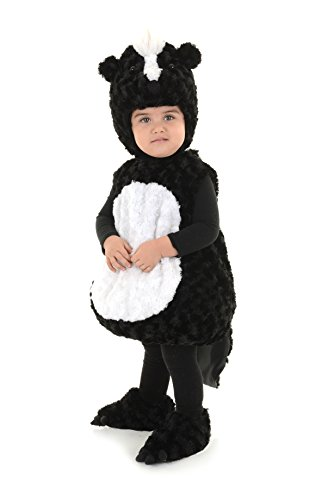 Underwraps Toddler's Skunk Belly Babies Costume, Black/White,