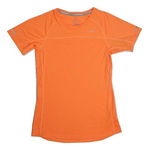 f036f1afc4e06 Amazon.com: NIKE Dri-Fit Running Short Sleeve T-Shirt Womens Orange ...