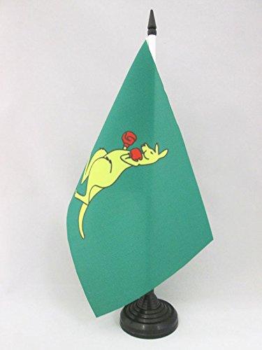 AZ FLAG TISCHFLAGGE Boxing Kangaroo 21x14cm flaggen Boxing Matilda TISCHFAHNE 14 x 21 cm