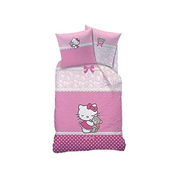 Parure De Lit Hello Kitty Astrid 1 Personne 140x200 Cm Amazon Fr