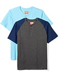 Men's 2-Pack Raglan Sleeve and Henley Short Sleeve T-Shirt