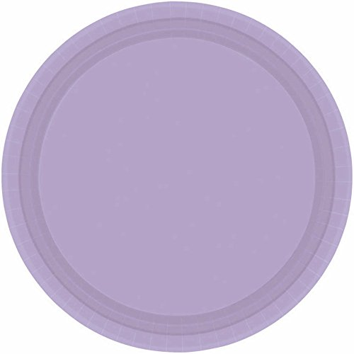 - Lavender Round Paper Plates | 7