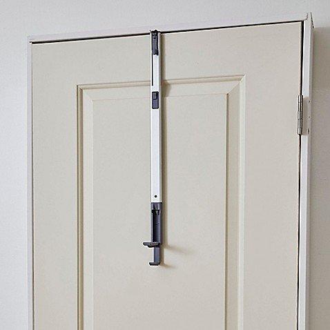 BathSense Over-the-Door Adjustable Telescopic Valet Hook in Aluminum