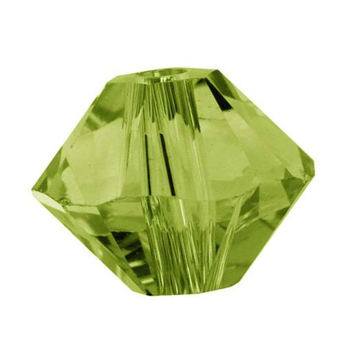 SWAROVSKI ELEMENTS Crystal #5328 3mm Bicone Beads Olivine (25 Beads)