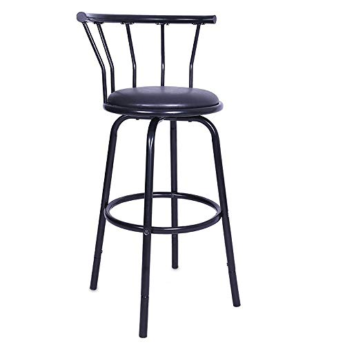 Bar stool Clearance , Vintage Wrought Iron Rotating High Stool Bar Chair Steel Counter Height,Set Of 2 by Little Story