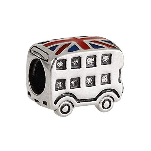 London Taxi Charm / Bus Charm 925 Sterling Silver Beads Travel Charm fit Pandora Bracelets (Bus) by MEETCCY charm