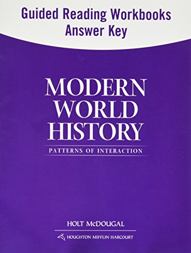 Modern World History: Patterns of Interaction: Guided Reading and Spanish/English Guided Reading Workbooks Answer Key (Spanish Edition)