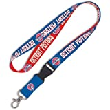 NBA Detroit Pistons Lanyard with Detachable Buckle, 3/4""