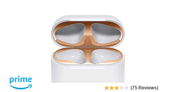 88f2bb18296 elago Dust Guard for AirPods  Rose Gold  2 Sets  -  18K Gold  Plating  Protect AirPods from Iron Metal Shavings  Luxurious Looking  Must  Watch Installation ...