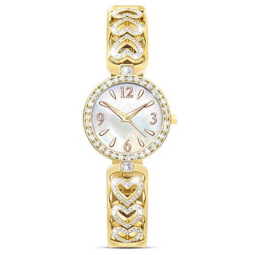 Today, Tomorrow, Always Diamond Women's Watch by The Bradford (State Ladies Heart Watch)