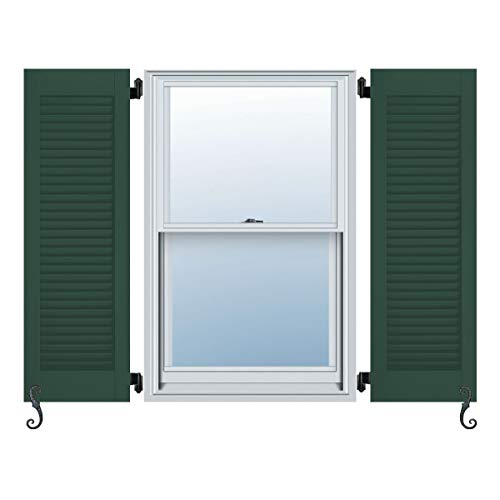 Atlantic Architectural All Louver, Louver Colonial Shutters (Per Pair), 14