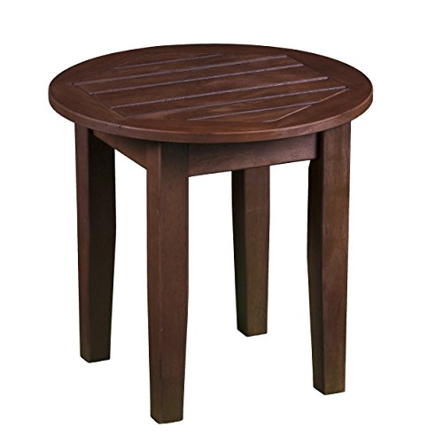 Furniture HotSpot – Outdoor Side Table – Natural Oil – Round - 18