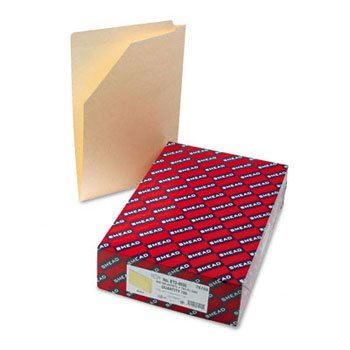 End Tab File Pockets with Cut-Away Front Corner, Legal, 11 Point Manila, 100/Box by Smead