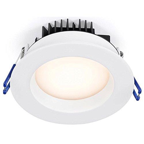 Lotus LED Lights 4'' 14.5W Round Regressed Downlight 850 Lumens 2700K SKU: LL4RRG-27K-WH