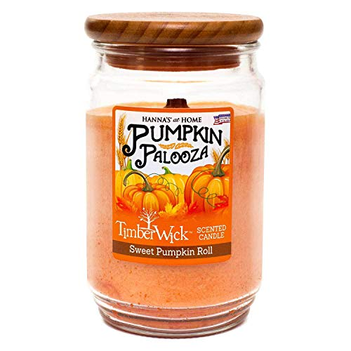 TimberWick Sweet Pumpkin Roll Mottled Scented Wax Candle ()