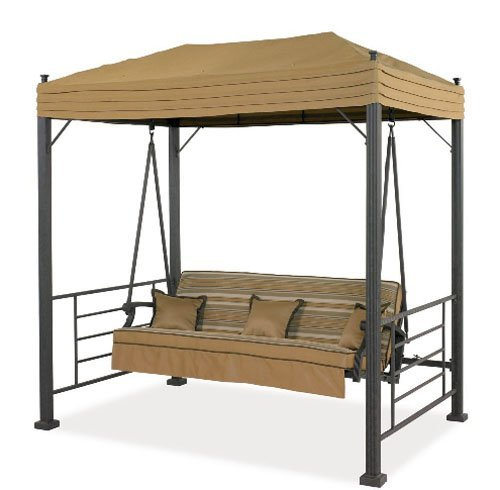 garden winds replacement canopy for sonoma swing palm canyon swing and sydney swing - Hampton Bay Outdoor Furniture