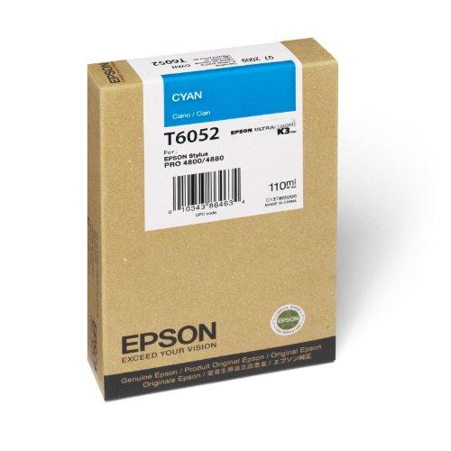 Epson T605200 UltraChrome K3 110ml Cyan Cartridge (T605200)
