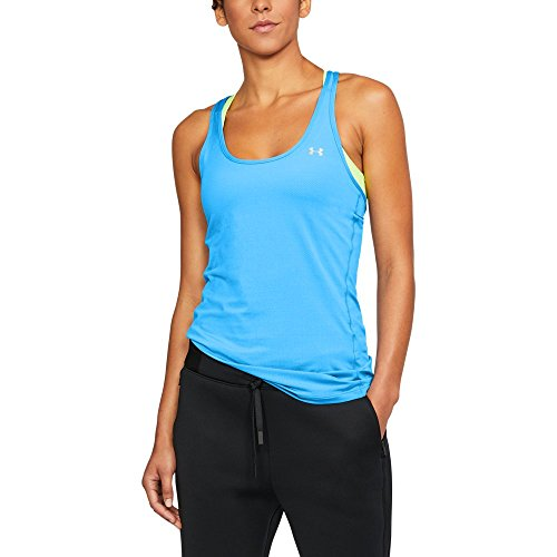 Under Armour Women's HeatGear Armour Racer Tank Top, Mako Blue /Metallic Silver, Small by Under Armour (Image #1)