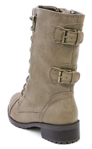 Top Moda Frauen-Pack-72 Lace Up Combat Boot Premium Taupe
