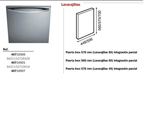 Teka Puerta Lavavajillas 60 INOX 560 mm (H): Amazon.es: Hogar