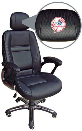 MLB New York Yankees Leather Office Chair