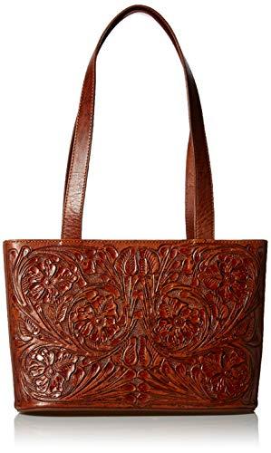 Mauzari Women's Small Leather Tote Shoulderbag (Koa)
